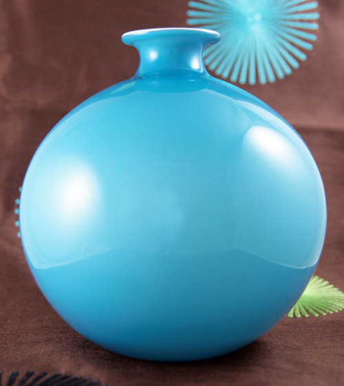 Holmegaard carnaby large glass ball vase retro art