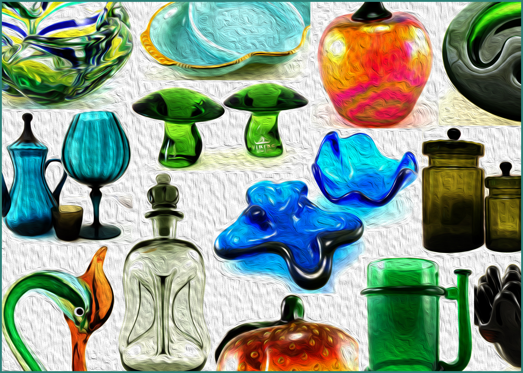 Retro Art Glass Retro Art Glass Offers a Large