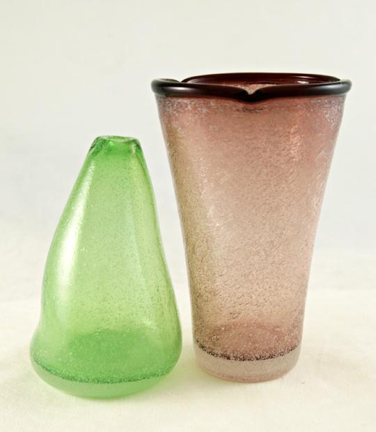 free blown vintage glass with dense interior bubble decor bubble hand blown glass