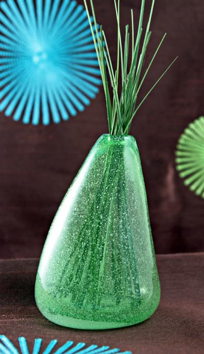 organic hand blown glass foaming bubbles vase bubble hand blown glass