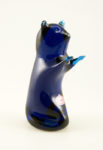 Hand formed glass. Vintage collectible figurine Handmade in 1970's West Virginia. USA. Mid-20th Century mod art glass.