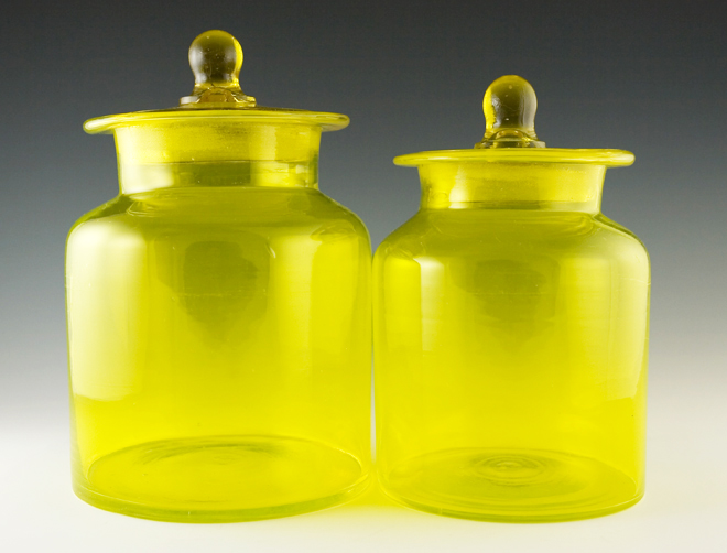 Marvelous Vintage Kitchen Canister Set In Lemon Yellow