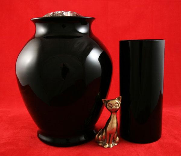 Elegant Cambridge Glass Black Amethyst Vase With Flower Frog Retro