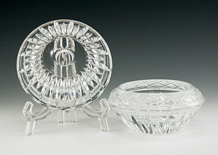 Princess House Crystal Reversible Candle Holders - Retro Art Glass