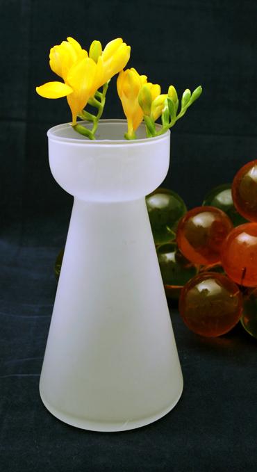 Swedish Modern Decor Bulb Forcing Hyacinth Vase Retro Art Glass