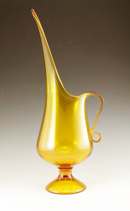 """Exaggerated retro mod pitcher by Kanawah. Vase stands 17.5"""" tall."""