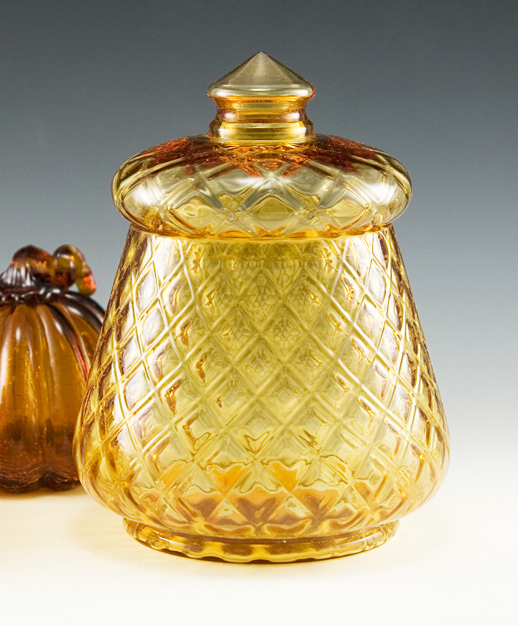 Made by Fenton Art Glass in 1962 to 1964, original part no. 1780 called 'Candies'.