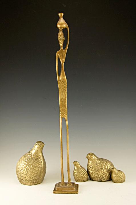 Very tall egyptian akhenaten style sculpture retro art glass