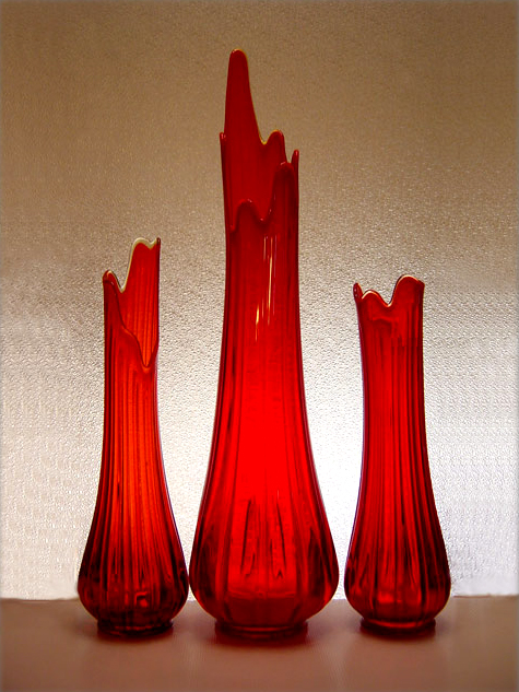 A Collection Of Lovely Floor Vases By Le Smith Gl