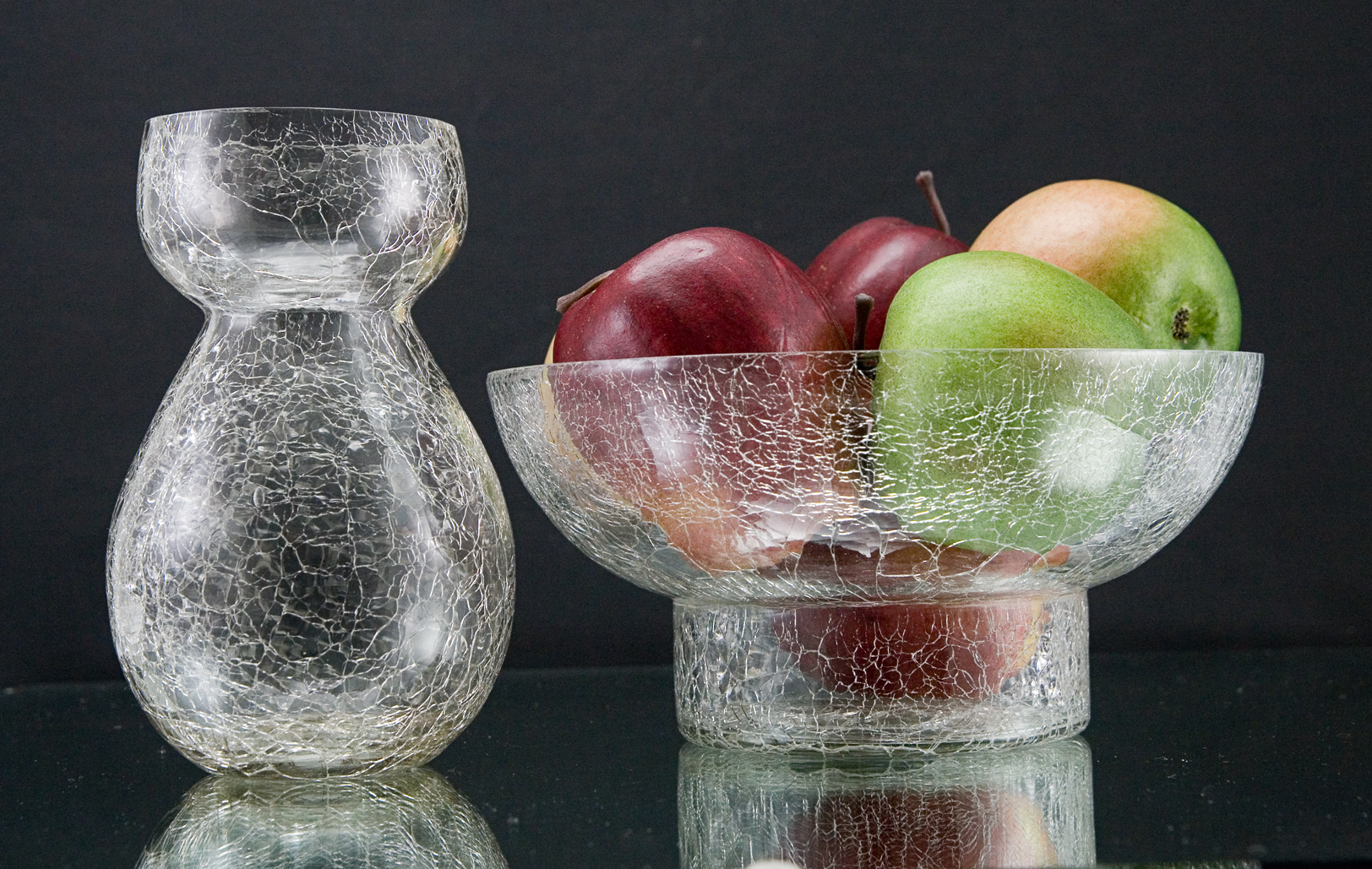 Hyacinth vase and bowl in hand blown crackle glass reviewsmspy
