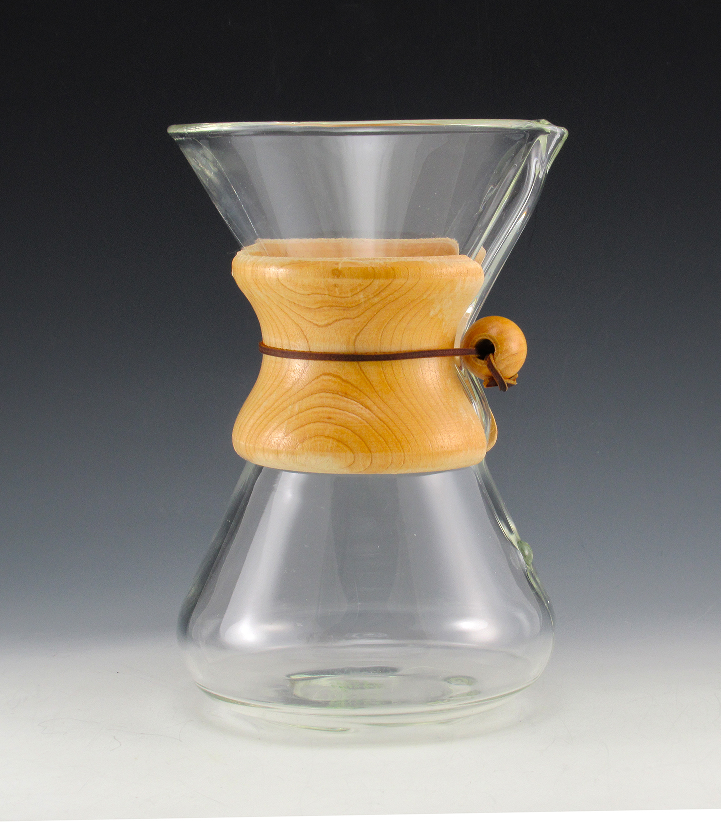 Espresso Coffee Glass ~ Vintage chemex pyrex coffee maker carafe green stamp